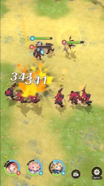 浮島物語の戦闘